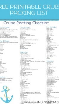 Free Printable Caribbean Cruise Packing List