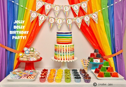 jelly bean birthday party rainbow party 1