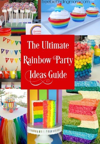 The Ultimate Rainbow Party Ideas Guide - Rainbow parties are a fun way to celebrate birthdays, graduations, promotions, or any excuse to gather friends and family, and in this guide you'll discover 25 of the best rainbow party ideas for foods, decorations, and favors. Your party is sure to be a colorful hit thanks to these fun ideas!