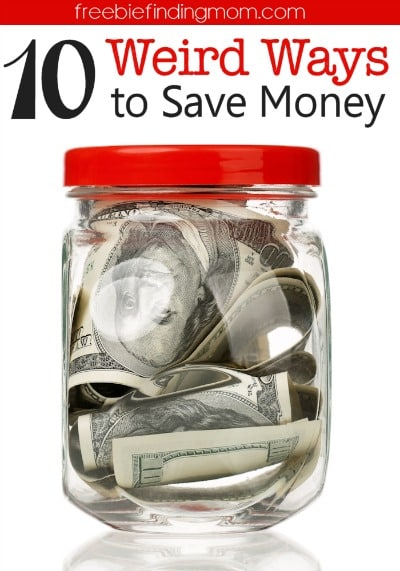 10 Weird Ways to Save Money - Are you not interested in couponing or other conventional ways to save money? Give a few of these new (and slightly weird) ways to save money a try. I assure you they work!