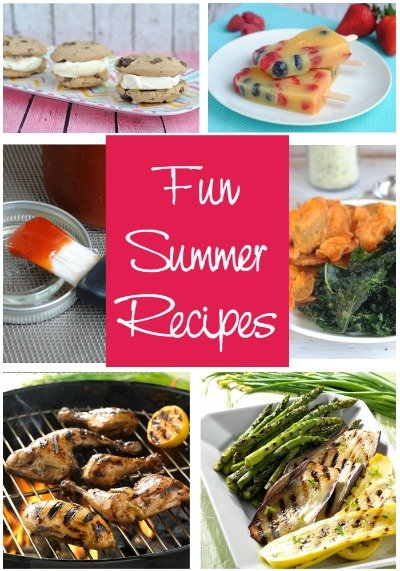 Fun Summer Recipes - Ensure your summer is filled with delicious eats. Here you'll find recipes for the Best Grilled Chicken Ever, yummy gluten free ice cream sandwiches, a homemade barbecue sauce and more.