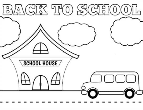 Free Printable Back to School Coloring