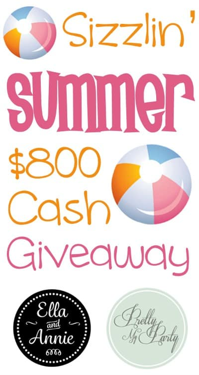 Enter the Sizzlin' Summer $800 Cash Giveaway!