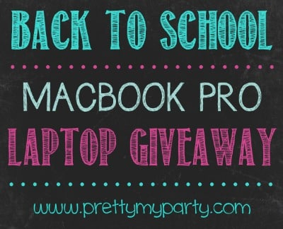 Back to School MACBOOK PRO Laptop Giveaway