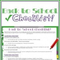 Freebie: Back to School Checklist