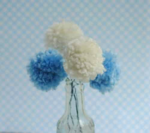 DIY Baby Shower Decorations Pom Flower Centerpieces