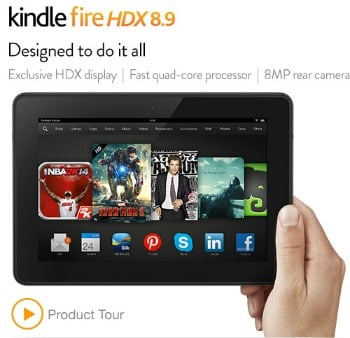 "Amazon Best Bargain of the Day: 30% Off Kindle Fire HDX 8.9"" Tablets"
