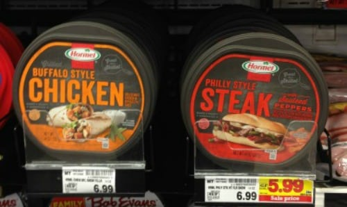 Hormel hot meat products