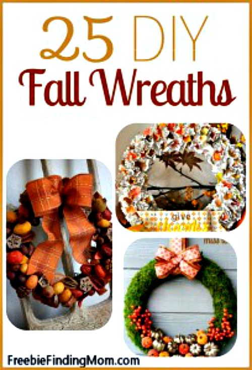 25 DIY Fall Wreaths - Welcome in fall and your guests with a beautiful DIY fall wreath. These 25 are sure to inspire you.