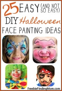 25 easy (and not so easy) Halloween face painting ideas for kids - Whether the kids want to be a cheerful clown, a gorgeous butterfly, a cute panda bear or another adorable character, you'll find inspiration here.