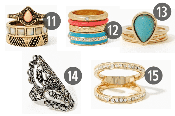 Chic and Cheap Women's Jewelry for Under $10 3