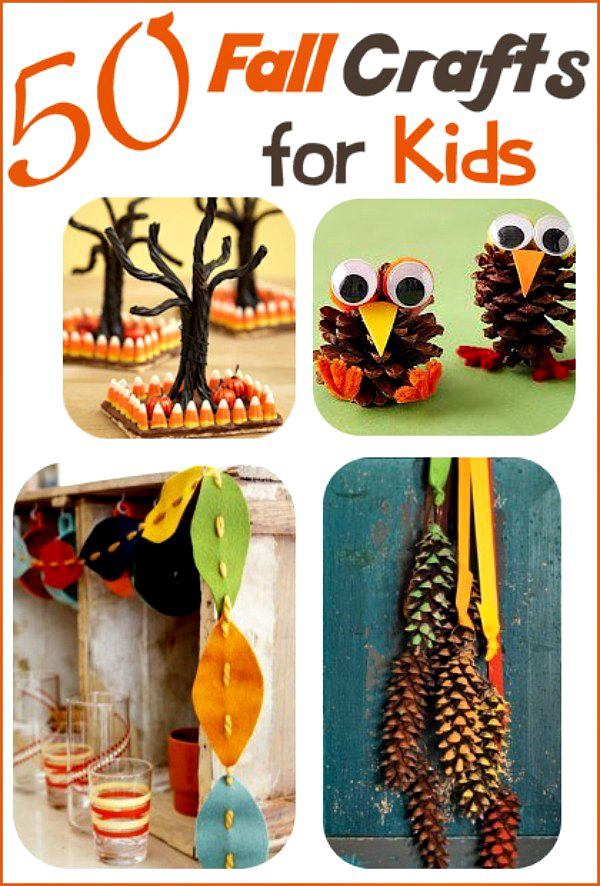 Fall crafts for kids 50 ideas your family will love for Simple fall crafts for kids