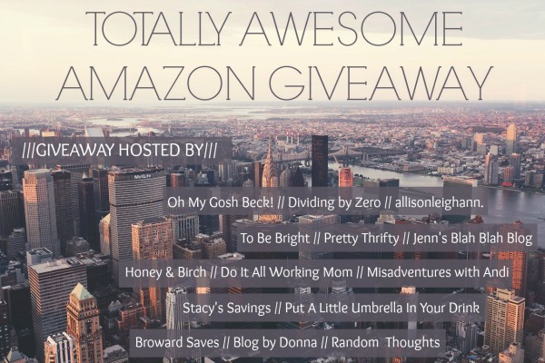 Enter the Totally Awesome Amazon Giveaway (Prize = $750 Amazon Gift Card)