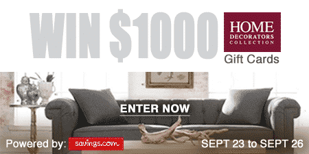 Enter to Win $50 Home Decorators Collection Gift Card (20 Winners in Total)