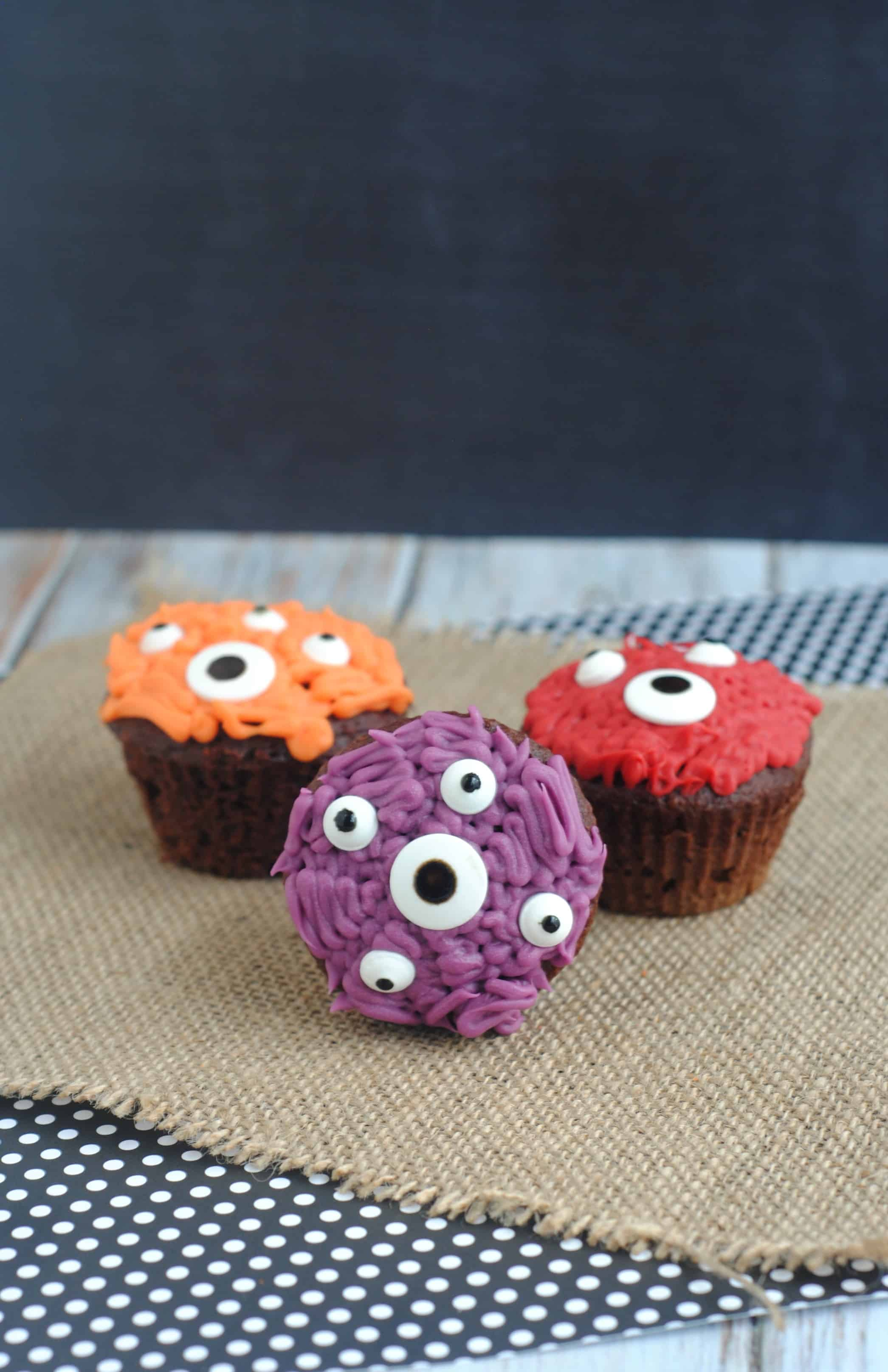 Halloween Inspired Kids Cupcake Ideas Monster Cupcakes