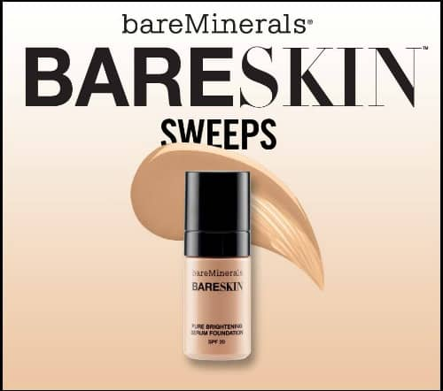 Giveaway: Enter to Win a FREE Deluxe Sample of BareMinerals Bareskin Foundation (5,000 Winners)