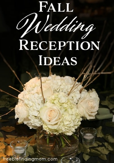 Fall Wedding Reception Ideas - Getting married on a budget may seem daunting but it can be done. These frugal fall wedding tips for centerpieces, party favors, the cake, table settings and more are guaranteed to inspire you.