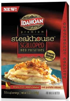 Idahoan Steakhouse Casserole to promote this week's Kroger free Friday download