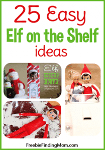 25 Easy Elf on the Shelf Ideas - Avoid the panic of wondering where you are going to hide that little guy/gal, here are 25 elf on the shelf ideas that are easy to do but pretty brilliant too!