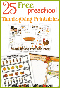 25 Free Preschool Thanksgiving Printables - Get the kids in the Thanksgiving spirit with free printable Thanksgiving coloring pages, a printable turkey cut and paste craft, Thanksgiving handwriting worksheets and much more.