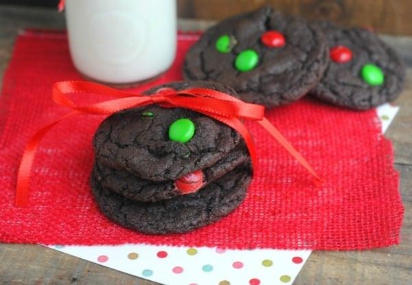 Chocolate Christmas Cookies In A Jar 2