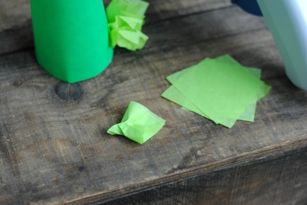 DIY Christmas Crafts: Tissue Paper Christmas Trees 2