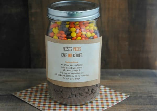 Reese's Pieces Cookies in a Jar 2