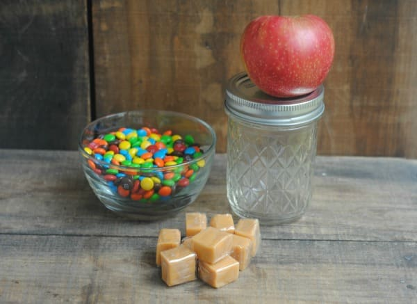 Rainbow Caramel Apple Mason Jar Gift 1