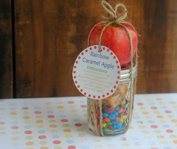 Rainbow Caramel Apple Mason Jar Gift 2