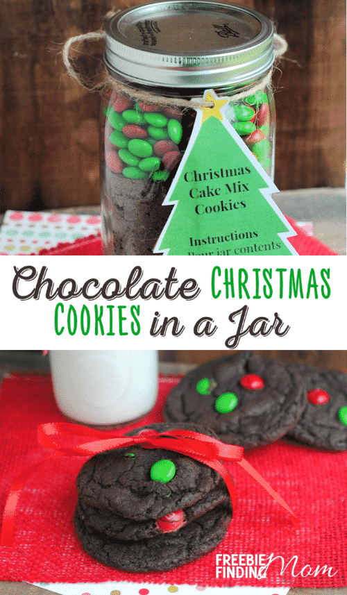 12 days of diy gifts in a jar  chocolate christmas cookies in a jar