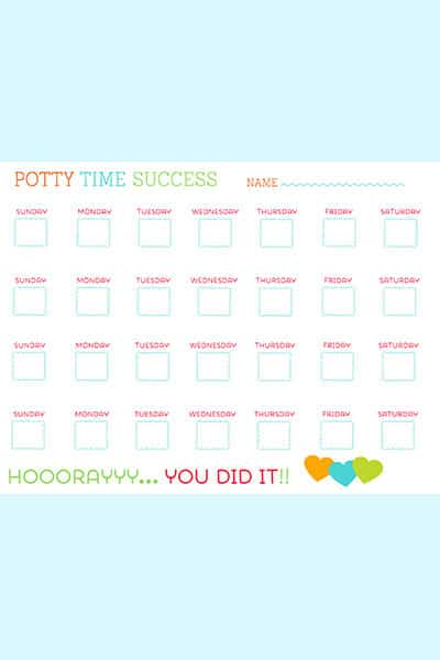 potty chart printable