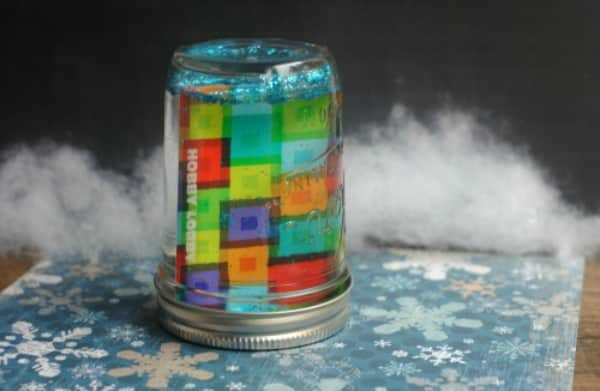 12 Days of DIY Gifts in a Jar: Snow Globe Gift Card Mason Jar Gift 3