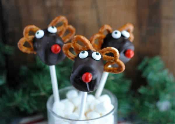 Easy Christmas Dessert Recipe: Reindeer Marshmallow Pops 4
