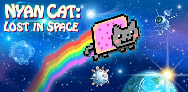Nyan Cat: Lost In Space app banner to promote today's FREE Android app download