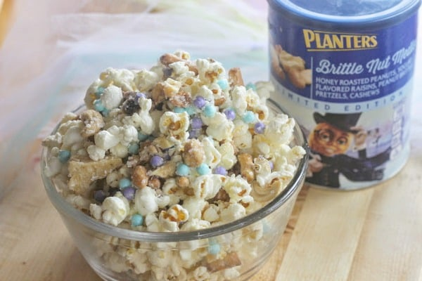 Frozen Inspired Brittle Nut Medley White Chocolate Snack Mix Step 4