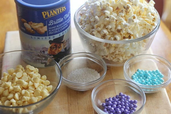 Frozen Inspired Brittle Nut Medley White Chocolate Snack Mix Ingredients