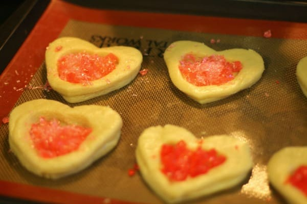 Heart Valentine Cookies: Heart Shaped Stained Glass Window Cookies 7