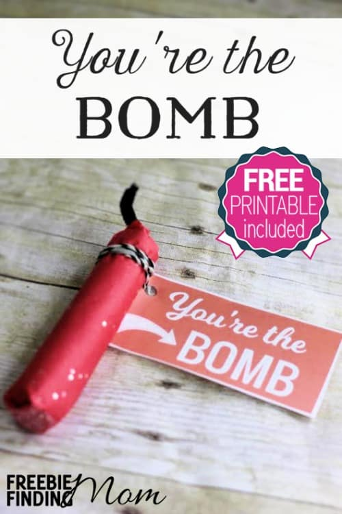 valentine's day diy gifts & free gift tags: you're the bomb, Ideas