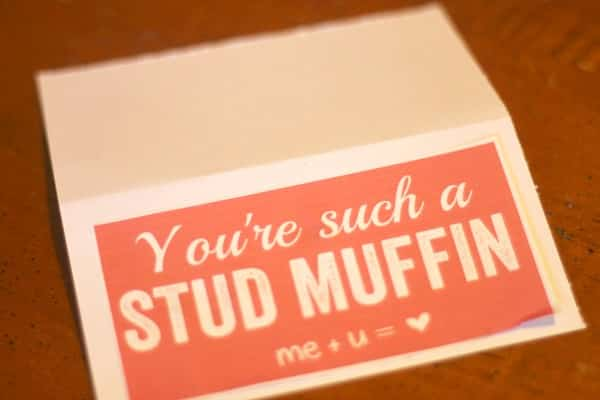 Valentine's Day DIY Gifts: You're Such a Stud Muffin Gift with FREE Printable Gift Tag 2