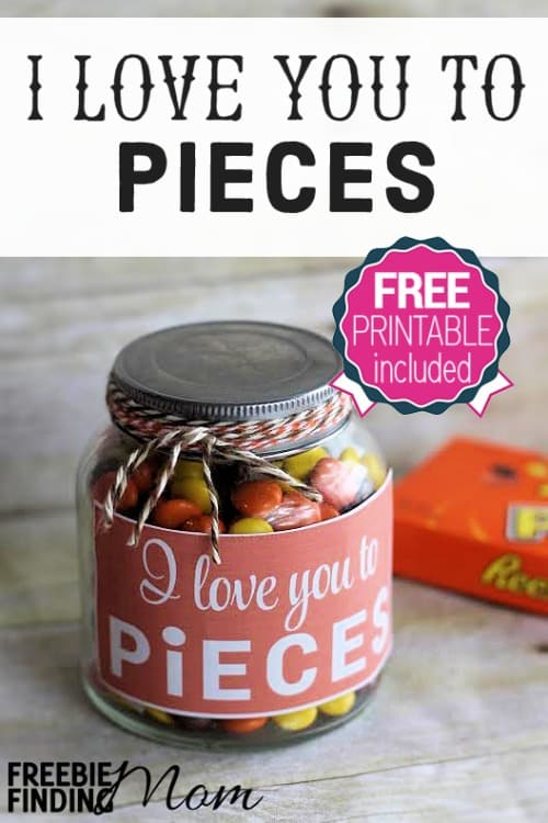 Valentines Day DIY Gifts I Love You To Pieces Candy Gift