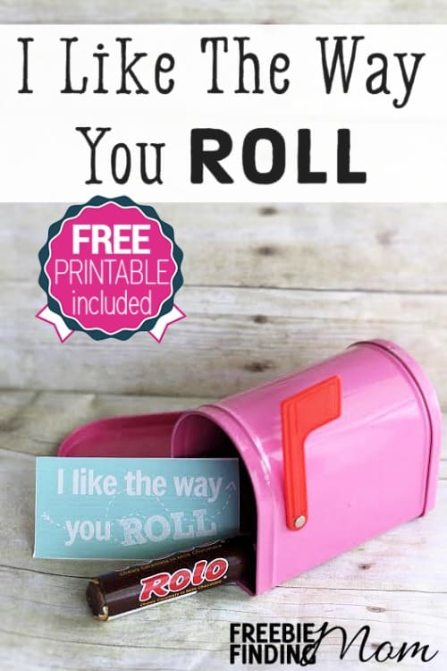 "I Like the Way You Roll DIY Valentine's Day Gift - Forget those expensive chocolates this Valentine's Day, you can still give your sweetie a chocolatey ""I love you"" without breaking the bank. That's right, with this cute Valentine's Day DIY gift idea you can put something sweet in your honey's belly and a smile on their face. Simply grab a roll or two of Rollos (feel free to substitute for their favorite rolled candy), a charming container, and this free printable gift tag."
