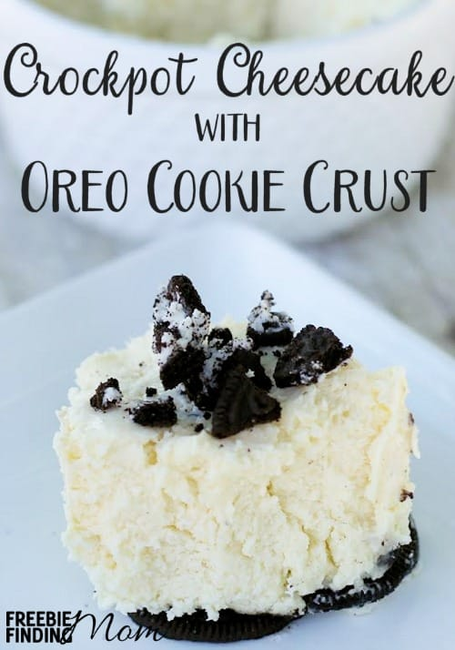 Who said the crockpot is just for soups, stews, or large cuts of meat? Now your handy crockpot can satisfy your sweet tooth like with this Crockpot Cheesecake with Oreo Cookie Crust recipe. Crockpot dessert recipes don't come much easier or more delicious than this.