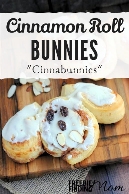 Cinnamon Roll Bunnies - Need a delicious and super easy breakfast recipe for Easter Sunday? These Cinnamon Roll Bunnies (a.k.a Cinnabunnies) are the perfect choice. No one needs to know these little cuties only require three ingredients and a few minutes to prepare.