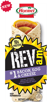 Hormel Rev A.M. Wrap to promote this week's Kroger free Friday download