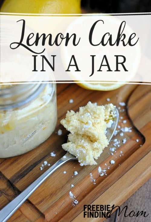 Have a craving for a sweet treat but don't want to blow your diet? Go ahead and whip up this Lemon Cake in a Jar recipe to satisfy your taste buds. Within a few minutes you'll get to indulge in lemony goodness without all the work of making an entire cake or the temptation of not eating it.