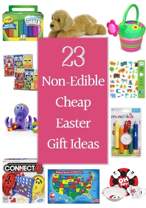Need non-edible Easter basket gift ideas? Here you go…23 fun and cheap Easter gift ideas that are sure to excite the kids on Easter morning. Instead of filling their Easter baskets with peeps and chocolate bunnies, load them up with fun yet educational gifts. Not only will the kids love these non-edible Easter treats, but the parents will appreciate not having sugar crazed little ones bouncing off the walls.