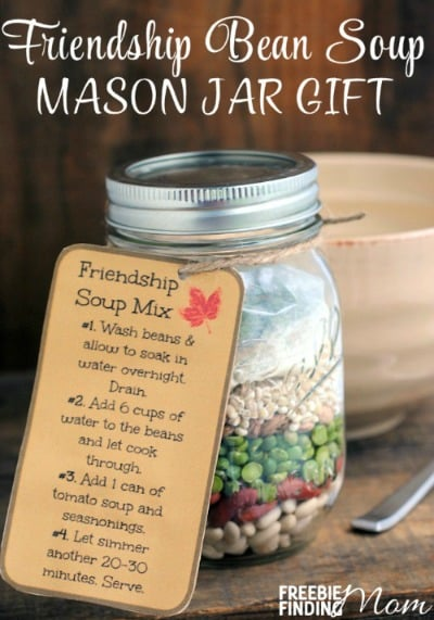 Friendship Bean Soup Mason Jar Gift