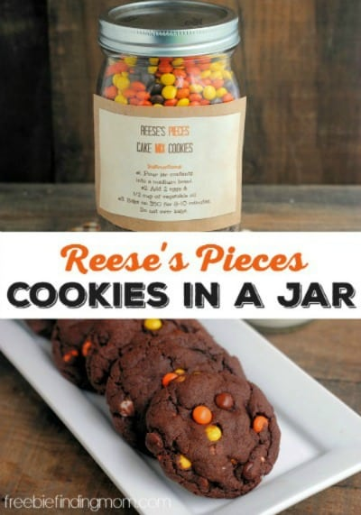 Reese's Pieces Cookies in a Jar