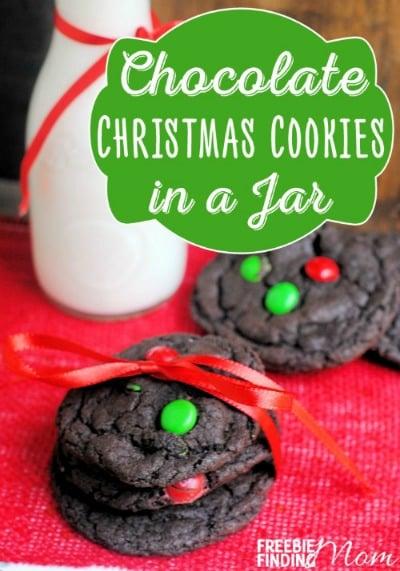 Chocolate Christmas Cookies In A Jar