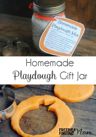 Homemade Playdough Mason Jar Gift